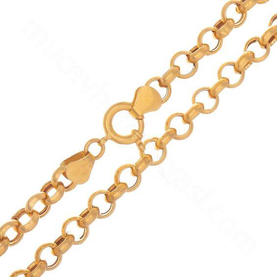 Mücevher Dünyası - 22 Ayar Halka Altın Zincir - 86 Cm - 41,17 Gr.