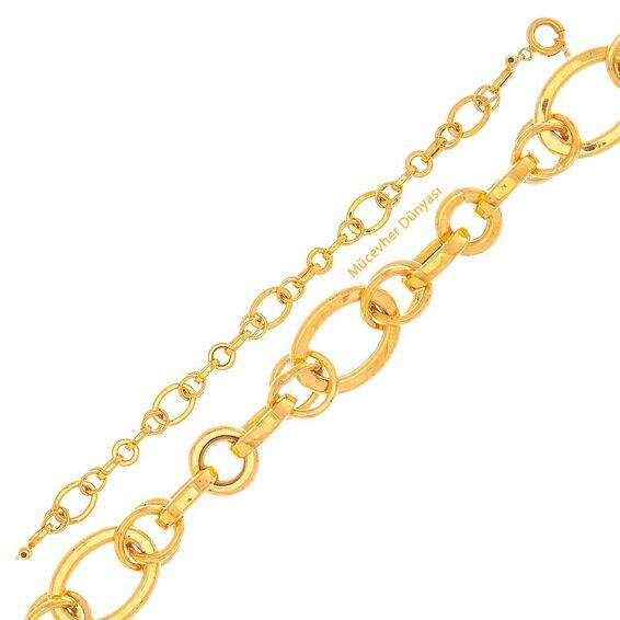 Mücevher Dünyası - 22 Ayar Halka Tasarım Altın Bileklik - 9,19 Gr.