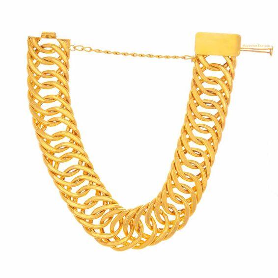 Mücevher Dünyası - 22 Ayar Halkalı Altın Bileklik - 40,69 Gr.