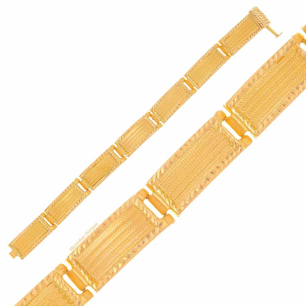 Mücevher Dünyası - 22 Ayar Hasır Altın Bileklik - 17.31 Gr.