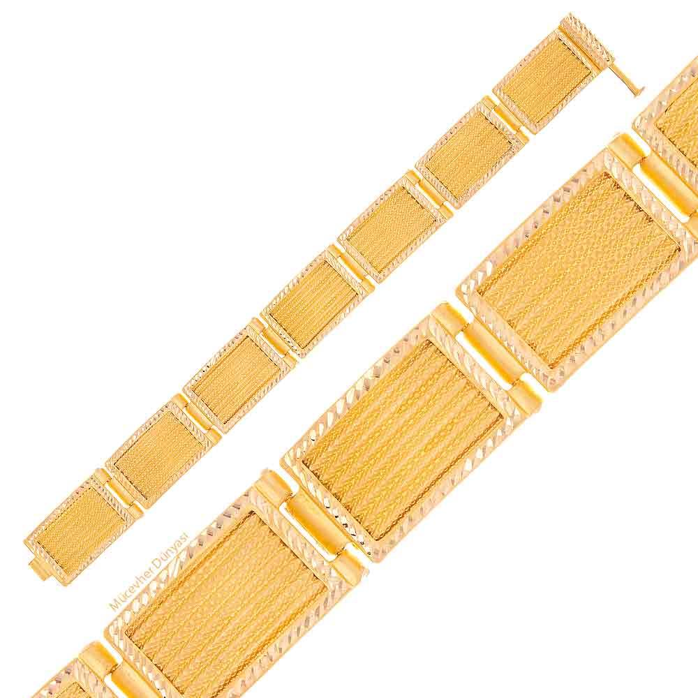 Mücevher Dünyası - 22 Ayar Hasır Altın Bileklik - 22,42 gr.