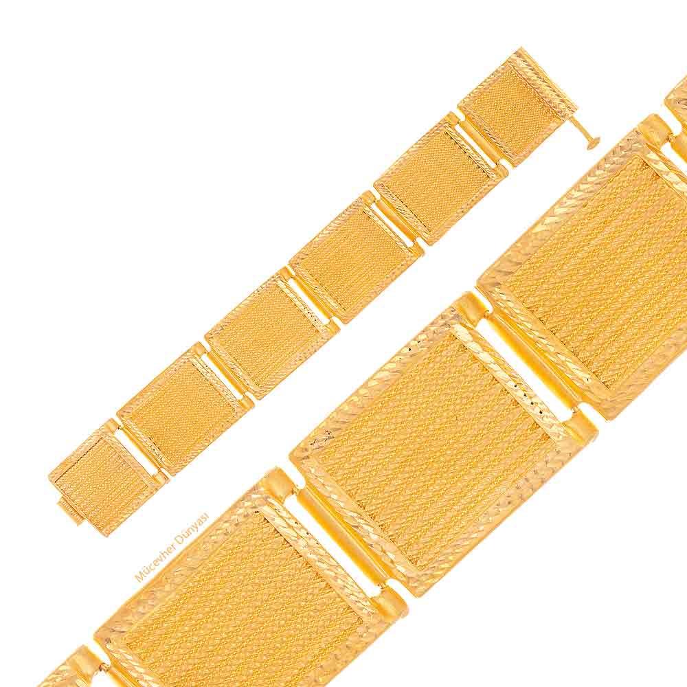 Mücevher Dünyası - 22 Ayar Hasır Altın Bileklik - 24,62 Gr.