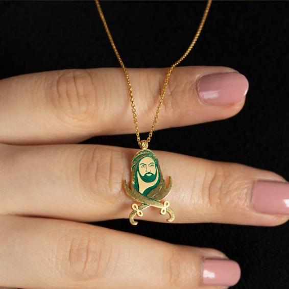Mücevher Dünyası - 22 Ayar Hazreti Ali Ve Zülfikâr Figürlü Altın Kolye - 4,40 Gr.