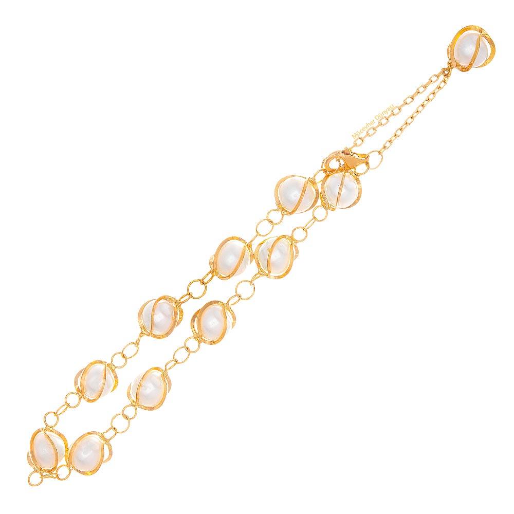 Mücevher Dünyası - 22 Ayar İnci Altın Bileklik - 5,30 Gr.