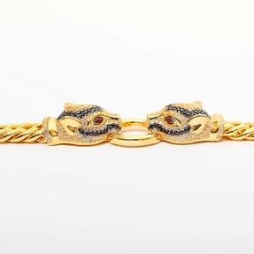 22 Ayar İtalyan Puma Altın Bileklik | Mücevher Dünyası - Thumbnail