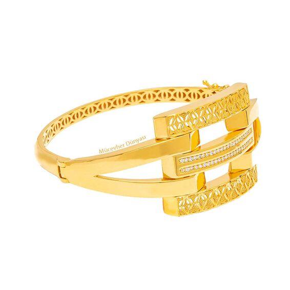 Mücevher Dünyası - 22 Ayar Kaburga Altın Kelepçe - 29,47 Gr.