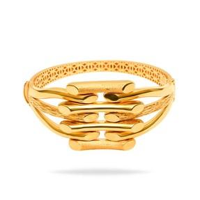 Mücevher Dünyası - 22 Ayar Kaburgalı Altın Bilezik & Kelepçe | Mücevher Dünyası