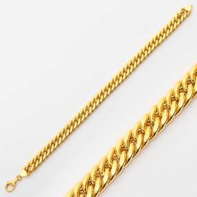 Mücevher Dünyası - 22 Ayar Kalın Düz Örgü Altın Bileklik | Mücevher Dünyası