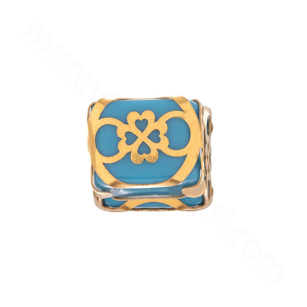 Mücevher Dünyası - 22 Ayar Kalpli Dört Yapraklı Yonca Altın Kolye Ucu - 0,34 gr.