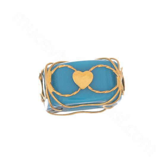 Mücevher Dünyası - 22 Ayar Kalpli Tasarım Altın Kolye Ucu - 0,49 Gr.