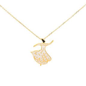 Mücevher Dünyası - 22 Ayar Mevlana Altın Kolye | Mücevher Dünyası