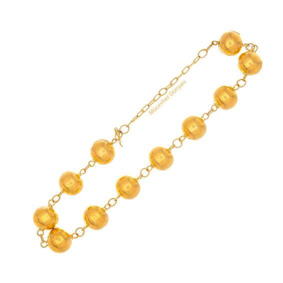 Mücevher Dünyası - 22 Ayar Nohut Altın Bileklik - 17,99 Gr.