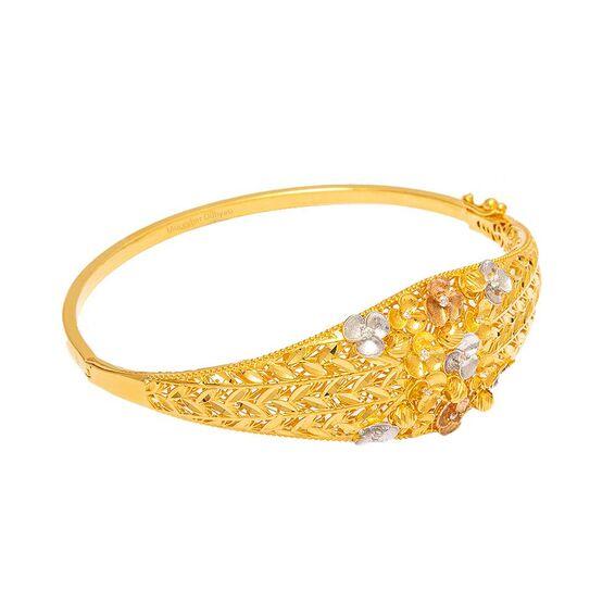 Mücevher Dünyası - 22 Ayar Özel Tasarım Altın Kelepçe - 13,80 Gr.