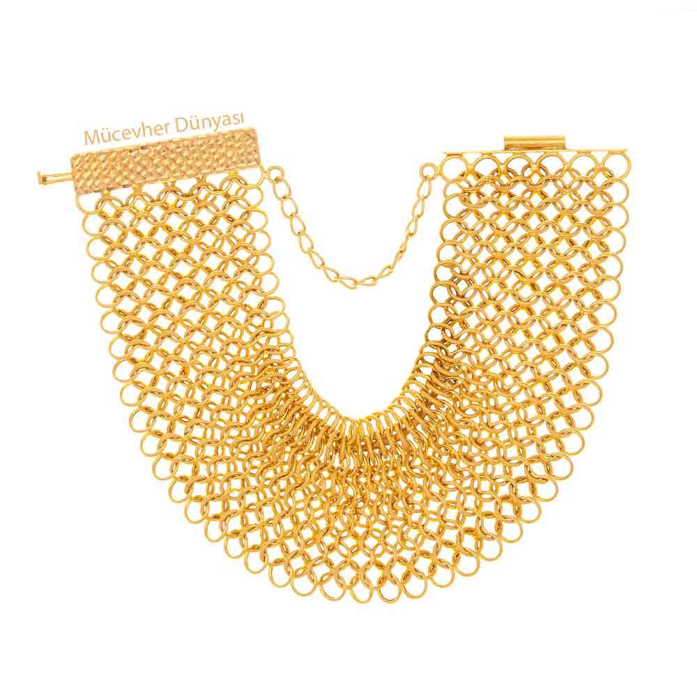 Mücevher Dünyası - 22 Ayar Prenses Altın Bileklik - 48,45 Gr.
