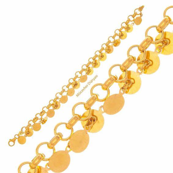 Mücevher Dünyası - 22 Ayar Pullu Altın Bileklik - 10,22 Gr.