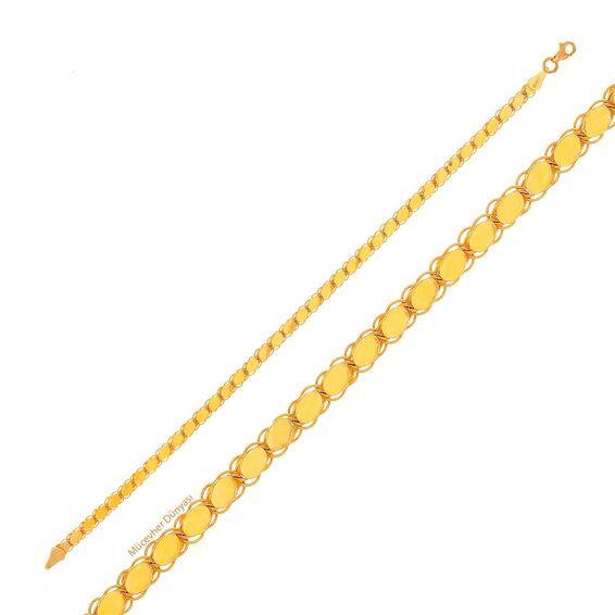 Mücevher Dünyası - 22 Ayar Pullu Altın Bileklik - 8,29 Gr.