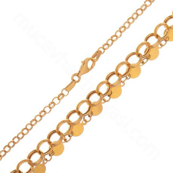 Mücevher Dünyası - 22 Ayar Pullu Altın Zincir - 45 Cm - 16,04 Gr.