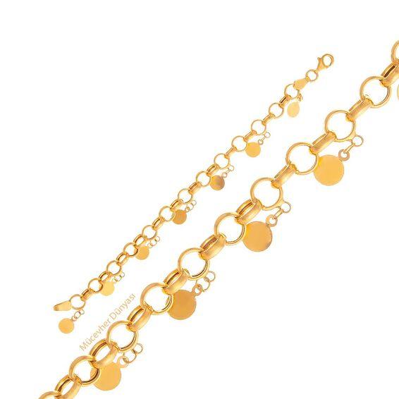 Mücevher Dünyası - 22 Ayar Pullu Çocuk Altın Bileklik - 5,84 Gr.