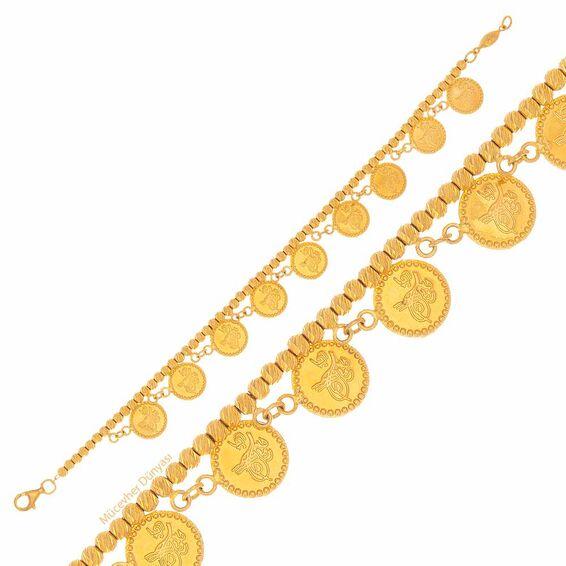 Mücevher Dünyası - 22 Ayar Reşat Liralı Dorika Altın Bileklik - 10,91 Gr.