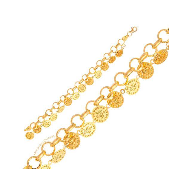 Mücevher Dünyası - 22 Ayar Reşat Liralı Çocuk Altın Bileklik - 6,04 Gr.