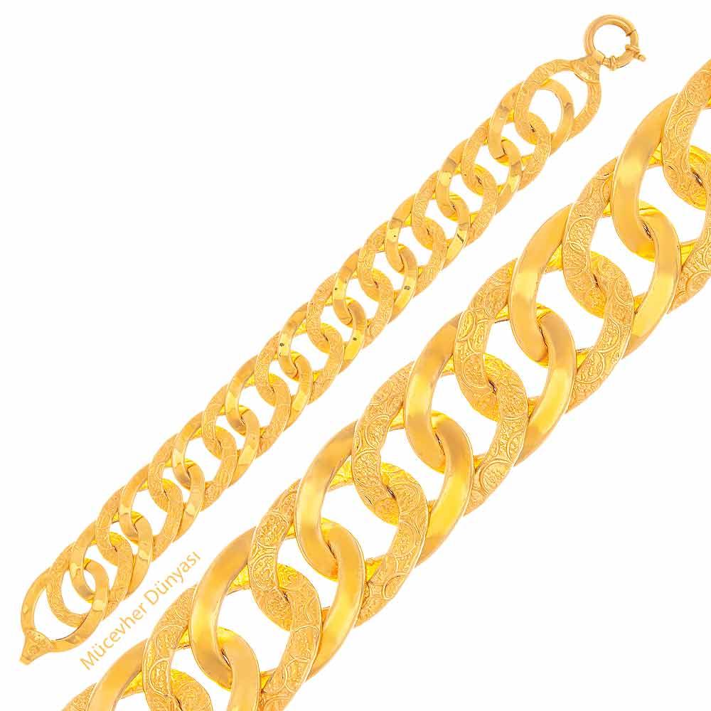 Mücevher Dünyası - 22 Ayar Samanyolu ve Halka Altın Bileklik - 21,70 Gr.