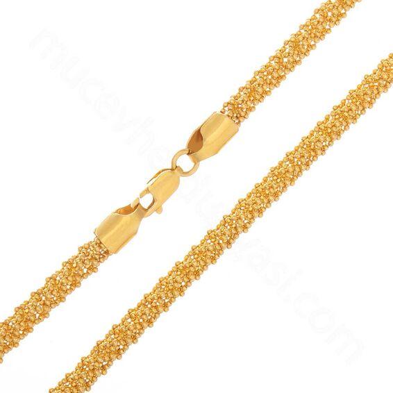 Mücevher Dünyası - 22 Ayar Singapur Altın Zincir 55 Cm - 35,37 Gr.