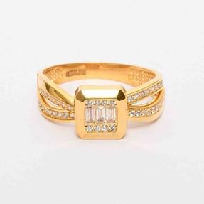 Mücevher Dünyası - 22 Ayar SıraTaşlı Altın Fantezi Yüzük | Mücevher Dünyası