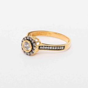 - 22 Ayar Sırataşlı Altın Yüzük   Mücevher Dünyası