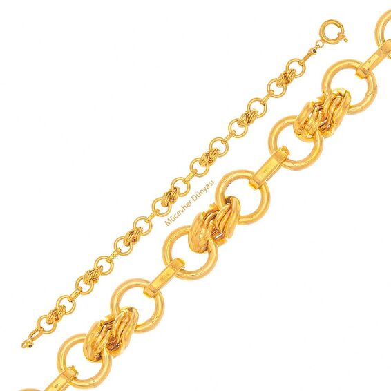 Mücevher Dünyası - 22 Ayar Tasarım Altın Bileklik - 11,15 Gr.