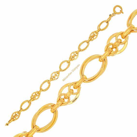Mücevher Dünyası - 22 Ayar Tasarım Altın Bileklik - 11,57 Gr.