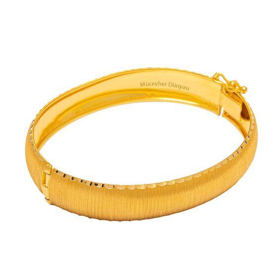 Mücevher Dünyası - 22 Ayar Tasarım Altın Kelepçe - 18,02 Gr.