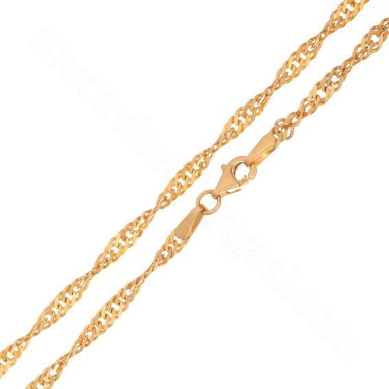 Mücevher Dünyası - 22 Ayar Tasarım Altın Zincir - 49 Cm - 8,52 Gr. - 2,5 Mm.