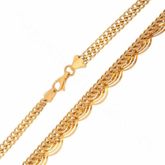 Mücevher Dünyası - 22 Ayar Tasarım Altın Zincir - 50 Cm - 15,05 Gr.