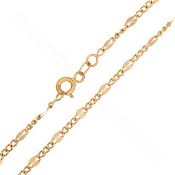 Mücevher Dünyası - 22 Ayar Tasarım Altın Zincir 50 Cm - 5,20 Gr.
