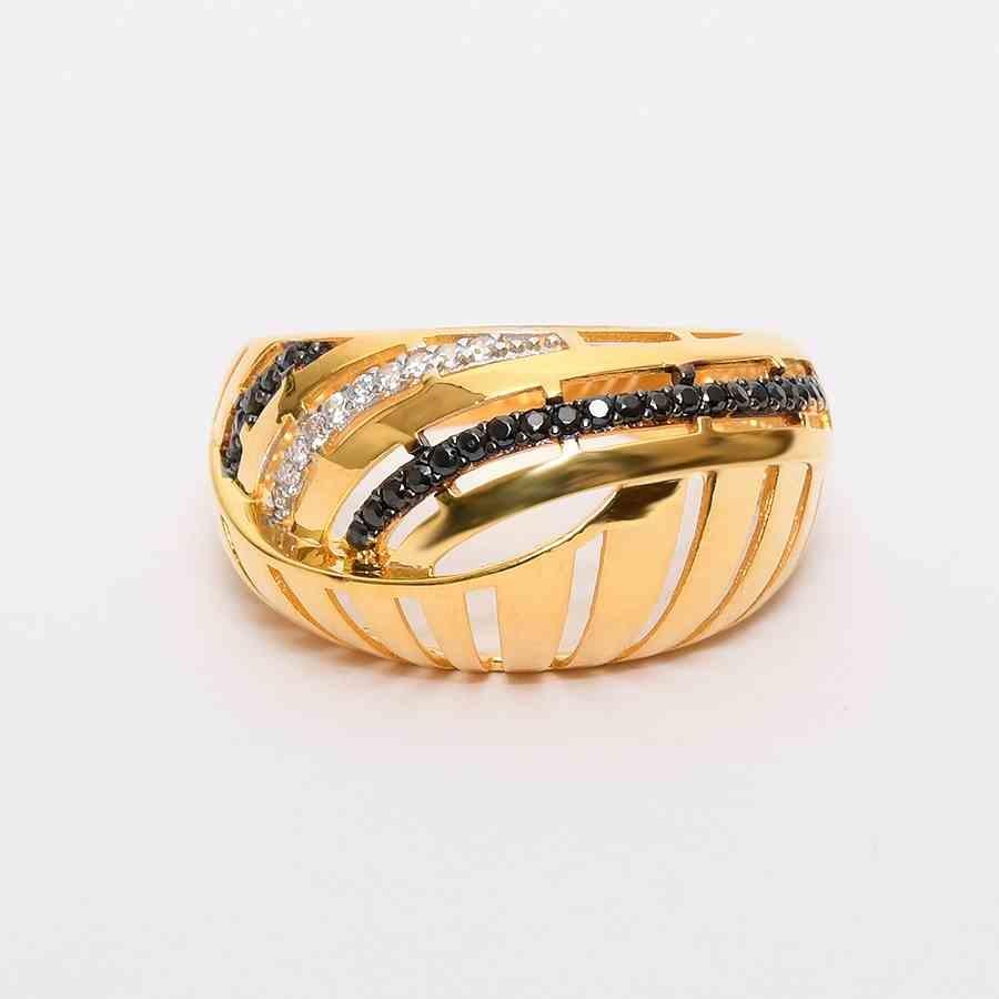 Mücevher Dünyası - 22 Ayar Taşlı Altın Fantezi Yüzük - 5,08 Gr.
