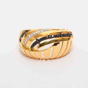 Mücevher Dünyası - 22 Ayar Taşlı Altın Fantezi Yüzük | Mücevher Dünyası