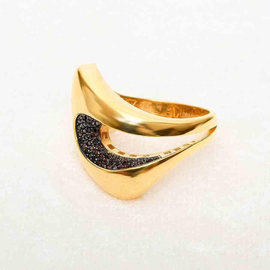 Mücevher Dünyası - 22 Ayar Taşlı Altın Fantezi Yüzük - 7,53 Gr.