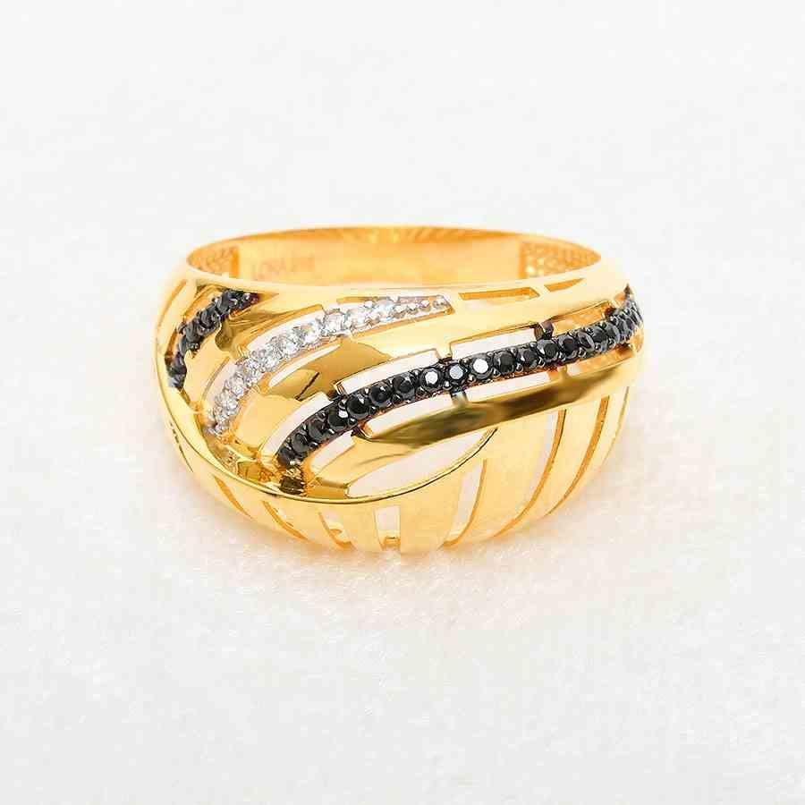 Mücevher Dünyası - 22 Ayar Taşlı Altın Fantezi Yüzük - 5,07 Gr.