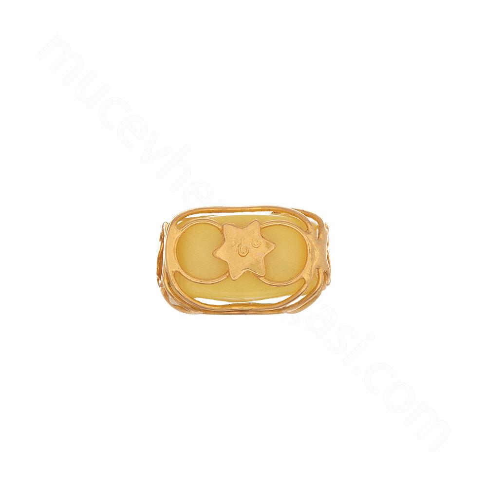 Mücevher Dünyası - 22 Ayar Renkli Taşlı Altın Kolye Ucu - 0,47 Gr.
