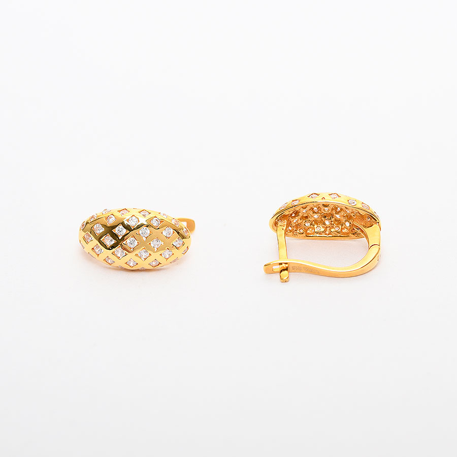Mücevher Dünyası - 22 Ayar Taşlı Altın Küpe - 5.20 Gr.