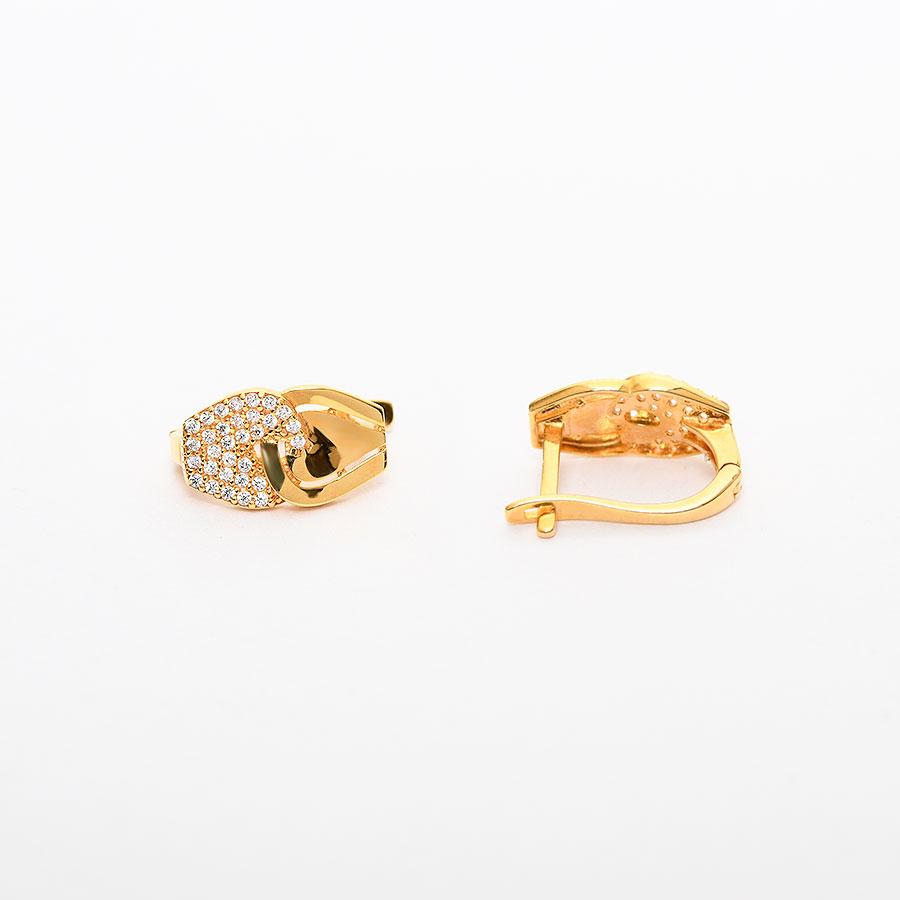 Mücevher Dünyası - 22 Ayar Taşlı Altın Küpe 4.11 Gr.