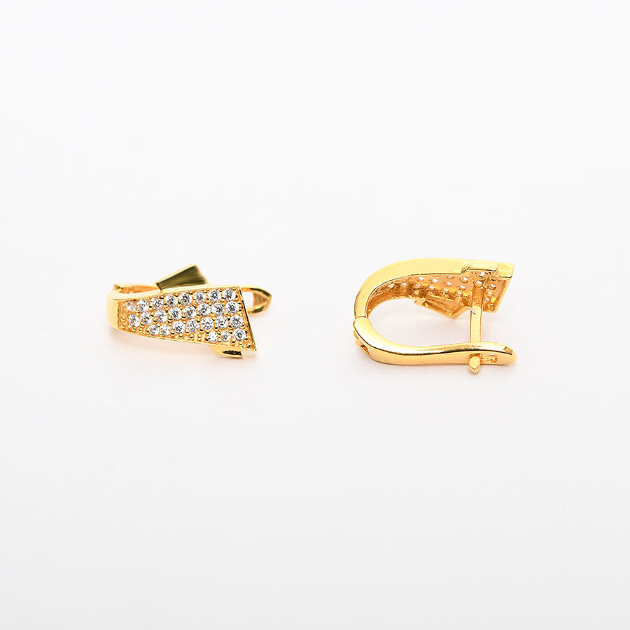 Mücevher Dünyası - 22 Ayar Taşlı Altın Küpe - 4.38 Gr.