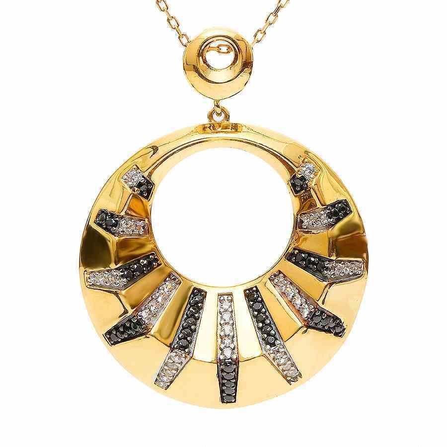 Mücevher Dünyası - 22 Ayar Taşlı Altın Madalyon - 7,86 Gr.
