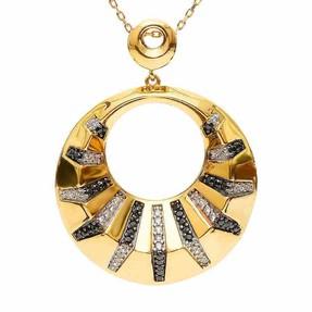 Mücevher Dünyası - 22 Ayar Taşlı Altın Madalyon | Mücevher Dünyası