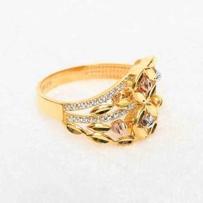 Mücevher Dünyası - 22 Ayar Taşlı Dorika Altın Fantezi Yüzük | Mücevher Dünyası