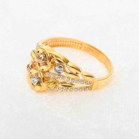 22 Ayar Taşlı Dorika Altın Fantezi Yüzük | Mücevher Dünyası - Thumbnail