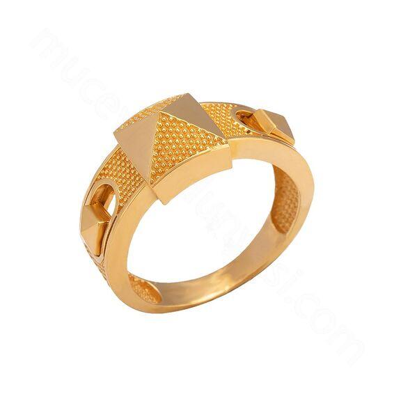 Mücevher Dünyası - 22 Ayar Altın Fantezi Yüzük - 6,93 Gr.