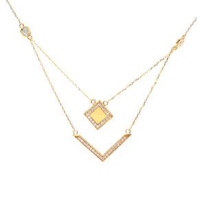 Mücevher Dünyası - 22 Ayar Taşlı Özel Tasarım Altın Kolye | Mücevher Dünyası