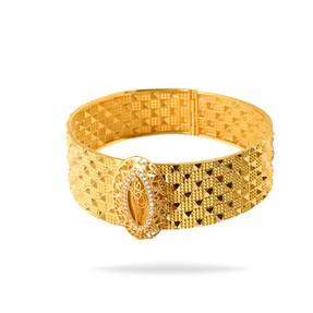 Mücevher Dünyası - 22 Ayar Taşlı Tuğralı Altın Bilezik & Kelepçe | Mücevher Dünyası