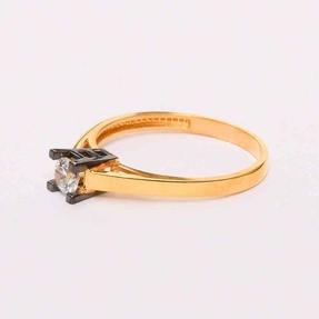 Mücevher Dünyası - 22 Ayar Tektaş Altın Yüzük | Mücevher Dünyası